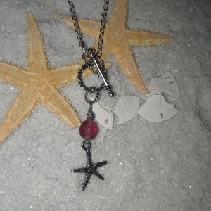 Starfish Drops necklace